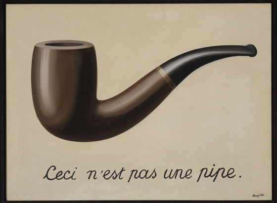 La trahison des images [Ceci n'est pas une pipe], René Magritte, 1929, © C. Herscovici, Brussels / Artists Rights Society (ARS), New York, <http://collections.lacma.org/node/239578>